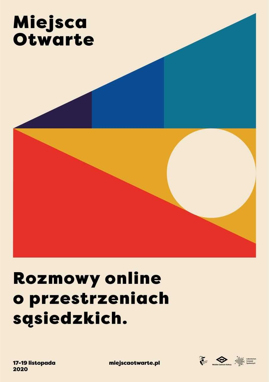 Plakat miejsc otwartych. Data realizacji wydarzenia 17-19 września 2020