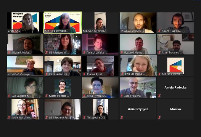 """Screen shot z sesji """"Kawa z organizatorami""""."""
